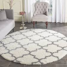 safavieh montreal collection sgm832b ivory and grey round area rug 6 7