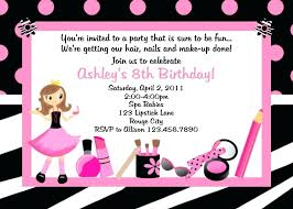 Free Printable Spa Party Invitations Templates Birthday Example Of