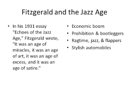 the great gatsby by f scott fitzgerald fitzgerald and the jazz 2 fitzgerald