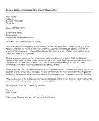 Diagnostic Medical Sonographer Cover Letter Letter Resume Directory