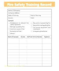Training Record Sheet Template Staff Record Template Umbrello Co