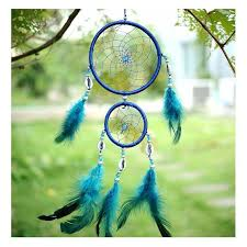 <b>Indian Style Car Handmade</b> Blue Dream Catcher Circular Net with ...
