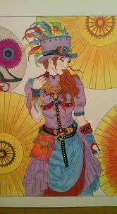 Small Picture 48 best Coloring Steampunk Fashion images on Pinterest Steampunk