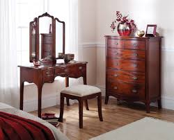 Mahogany Bedroom Furniture Louis French Solid Mahogany Dressing Table With Mirror Oak