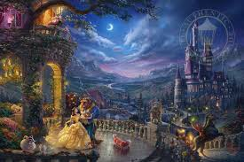 beauty and the beast dancing in the moonlight limited edition art