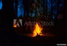 Camping in the woods at night Campfire Bonfire In The Woods At Night Tourist On Camping Adobe Stock Bonfire In The Woods At Night Tourist On Camping Buy This Stock