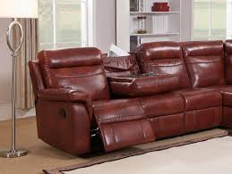 caramel genuine leather reclining sectional sofa w storage amax leather hariston order