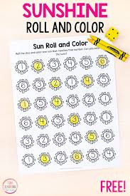 See more ideas about color by numbers, coloring pages, math coloring. Sun Roll And Color Numbers And Counting Activity