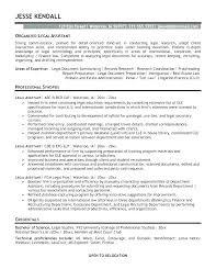 Legal Assistant Resumes Joefitnessstore Com