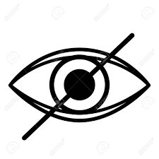 Ciego Del Ojo Aislado Icono Del Diseño, Ejemplo Gráfico Del Vector  Ilustraciones Vectoriales, Clip Art Vectorizado Libre De Derechos. Image  60348331.