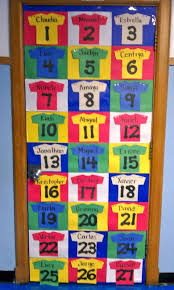 Door Chart Ideas What A Fun Idea For The Sports Theme Classroom Door Or