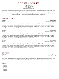 Resume Traditional 5 Example Of Traditional Cv Inta Cf