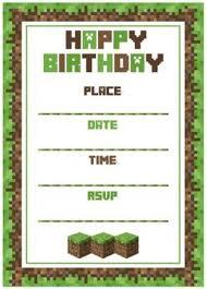 Minecraft Birthday Party Invitation Template Minecraft