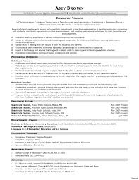 Elementary Teacher Resume Examples Education High Experience Resumes