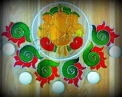Diwali Glass Painting Designs Ganesh Rangoli I Made For Diwali 2013 Glass Painting