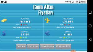 CANLI ALTIN FİYATLARI ( merkez bankası )18 AGUSTOS 2019 - YouTube