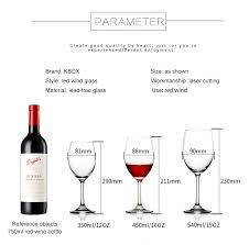 Wine Glass Size Chart 2019 Kbox New Wine Glass Lead Free Crystal Goblet Beer Whiskey Cup Brand Red Wine Glasses Eco Friendly Copo Vaso Water Glass From Hymen 36 57