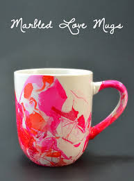 know some who loves their coffee make them a fun marbled mug easy as