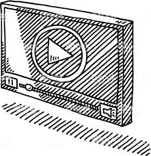 ビデオプレーヤーシンボル図面 いたずら書きのベクターアート素材や