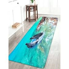 dolphin print bathroom flannel area rug spa inch rugs 3x5 p