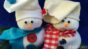 how to make a cute sock snowman in just a few simple steps