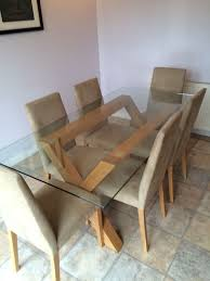 heart of house oakington 6 seater dinning table chairs
