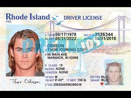 2019 Drivers Dream License Ids Rhode - New ri Island