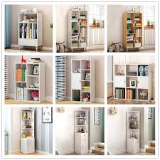 details about modern wooden bookcase shelves display cabinet divider storage unit bookshelf