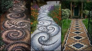 Mosaic Garden Mandala  Walkways  Pinterest  Mosaic Garden Rock Mosaic Garden Path