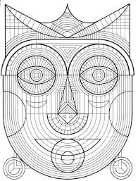 Small Picture mask Zen and Anti stress Coloring pages for adults JustColor