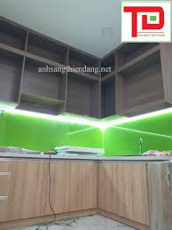 Thi công đèn led tủ bếp – nhà bếp dùng thanh nhôm định hình góc V gắn led  dây