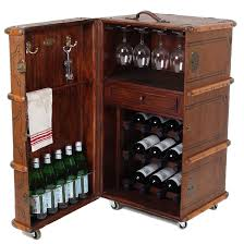 wine and bar cabinet. Vintage Steamer Trunk Wine Bar Cabinet And