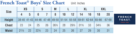 Boys Shorts Size Chart French Toast Boys Relaxed Fit Adjustable Waist Flat Front Pant