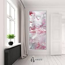 pink textured extra large wall art