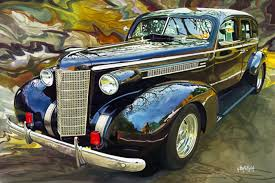 chris hartsfield painting of an old car