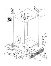 Kenmore model 10659702990 side by side refrigerator genuine parts model kenmore diagram refrigerator 10659702990 8