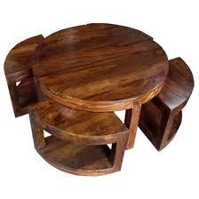 jali thakat round sheesham coffee table