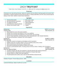 Esthetician Resume Cover Letter Sample Httpwww Resumecareer Massage