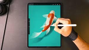 Drawing On Ipad Pro Drawing A Koi Fish On The Ipad Pro