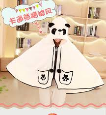 Us 18 46 29 Off Sweet Cartoon Giant Panda Cape Sweatshirt Cute Air Conditioning Officelunch Break Lazy Napping Blanket Cloak Sweatshirt In Hoodies