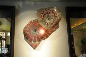 art glass studio commercial lighting amber chandelier