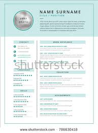 Medical Cv Resume Template Example Design Stock Vector 2018