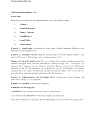 Science Report Format Report Format For Project Of Scholl Managment Docsity