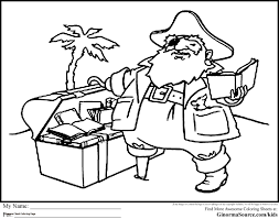 Treasure Chest Coloring Page Treasure Chest Coloring Page Printable