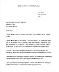 Sample Of Resignation Letter From Jobs Free 9 Sample Resignation Letters In Pdf Doc