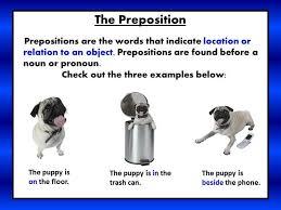 Preposition Chart For Kids Prepositions Mrs Warners Learning Community