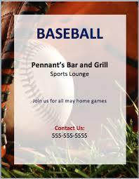 Baseball Brochure Template Baseball Flyer Template Flyer Template Sports Flyer Free