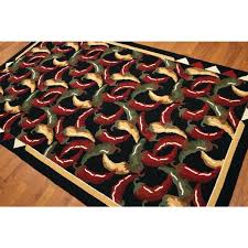 hooked area rugs novelty print chili pepper country multicolored wool hand hooked area rug phoenix hand