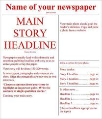 Newspaper Layout On Word 30 Newspaper Template For Word Andaluzseattle Template Example
