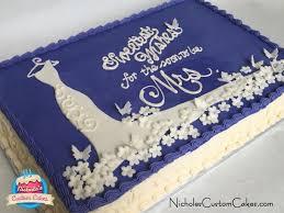 Wedding Shower Sheet Cake And Cupcakes Cake By Nicholescustomcakes